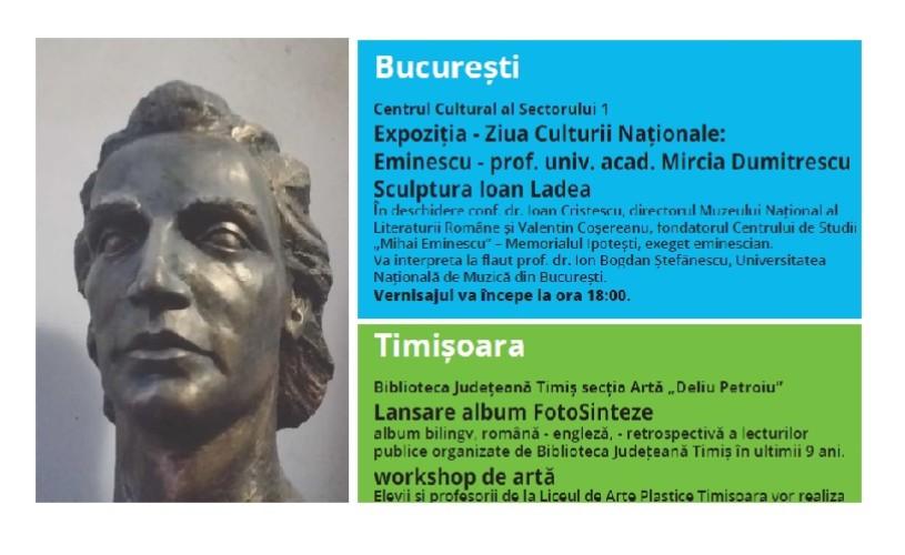Ziua Culturii Naționale, sărbătorită simultan în 3 orașe mari ale României