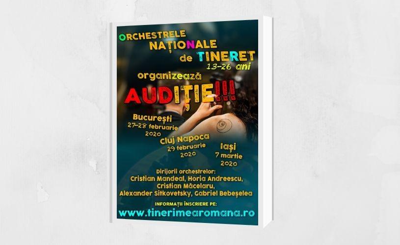 Audiție organizată de Orchestrele Naționale de Tineret