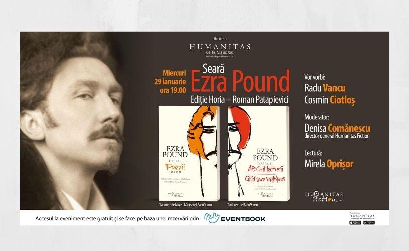 Seară dedicată lui Ezra Pound, la Librăria Humanitas de la Cișmigiu