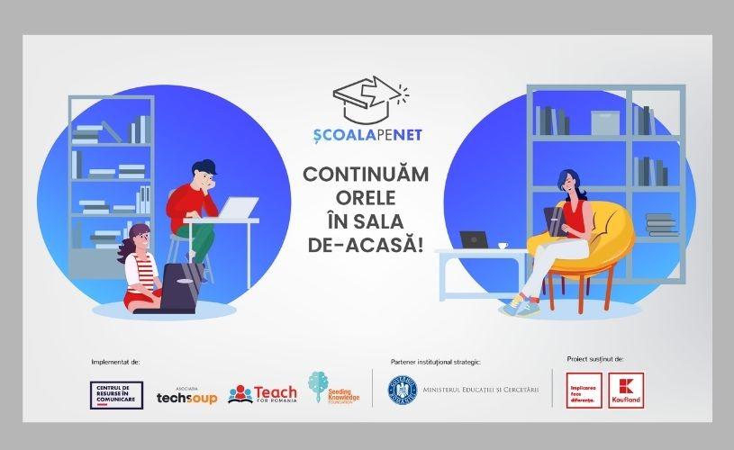 """Patru ONG-uri lansează """"Școala pe Net"""", platformă pentru profesorii din România"""