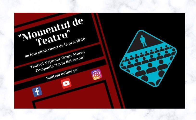 """""""Momentul de Teatru"""" online – """"perle"""", fabule, literatură și multe altele împreună cu Compania """"Liviu Rebreanu"""""""