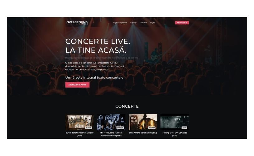 Overground Music lansează Overground Showroom – concerte live la tine acasă!