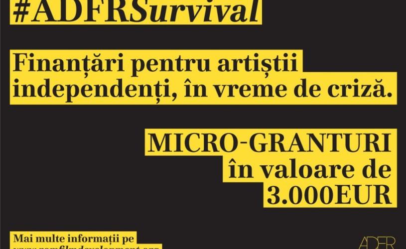 Micro-granturile #ADFRSurvival vor ajunge la 6 artiști independenți din industria cinematografică autohtonă