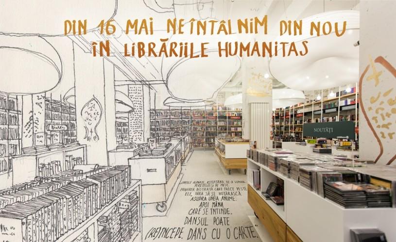 Se redeschid librăriile Humanitas!