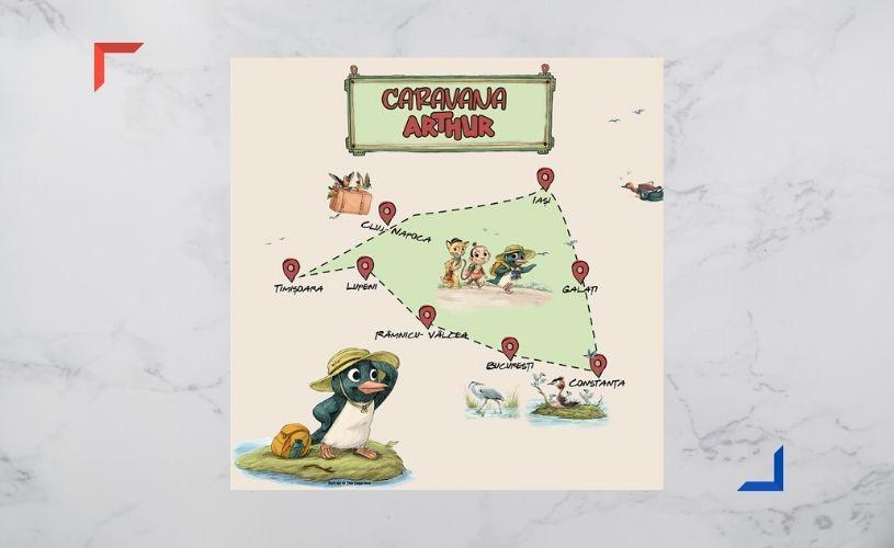 CARAVANA ARTHUR Un traseu literar pentru copii, în mediul online