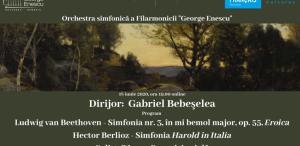 Beethoven și Berlioz în programul stagiunii online, sub conducerea lui Gabriel Bebeșelea