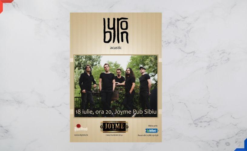 Concert byron la Sibiu, pe 18 iulie, la Joyme Pub