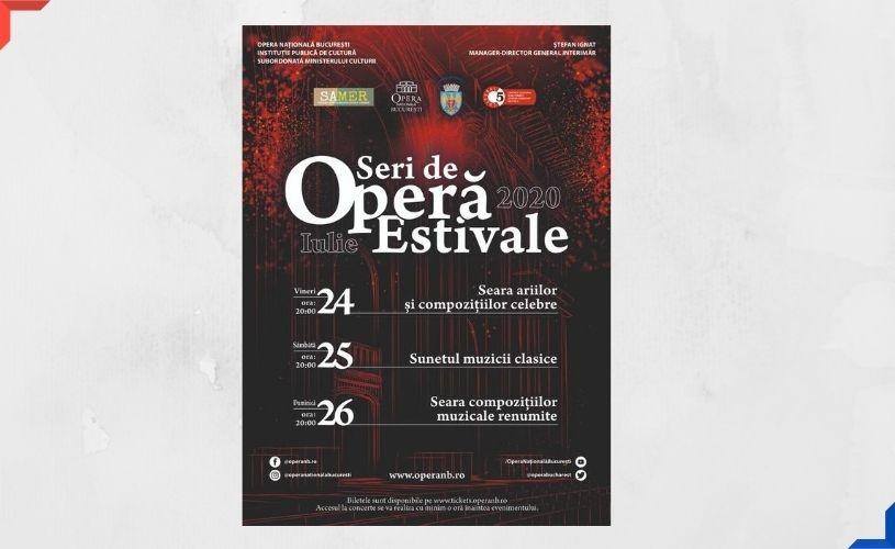 Opera Națională București prezintă în weekend o serie de concerte în aer liber
