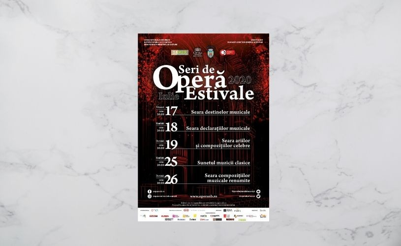 Opera Națională București lansează Stagiunea Estivală 2020 cu o serie de concerte în aer liber