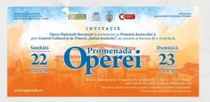 Promenada Operei revine anul acesta pe esplanada Operei Naționale București