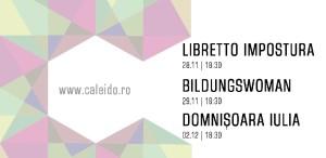 Festivalul Caleido prezintă trei spectacole-lectură în premieră