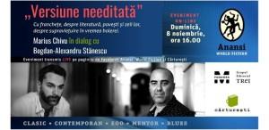 Scriitorii Marius Chivu și Bogdan-Alexandru Stănescu, dialog față în față despre literatură