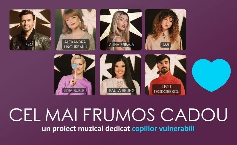 Șapte artiști pop cântă pentru copiii vulnerabili ai României
