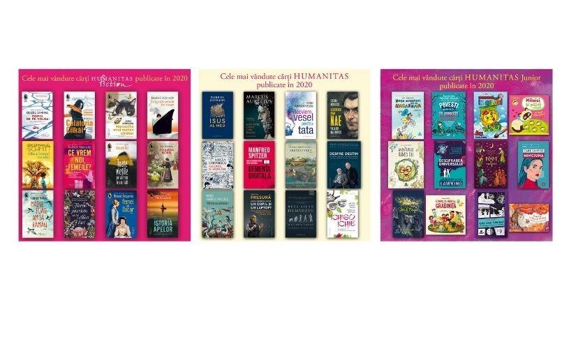 Cele mai vândute cărți Humanitas, Humanitas Fiction și Humanitas Junior publicate în 2020