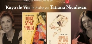 Kaya de Vos în dialog cu Tatiana Niculescu – vineri, 26 februarie, ora 19.30