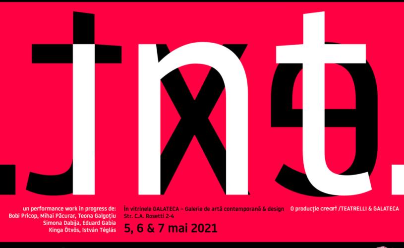 """""""INT. EXT."""", un spectacol-manifest despre condiția artistului în pandemie, LIVE în vitrinele Galateca"""
