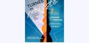 Vioara lui Enescu în Parcul Coloanei fără sfârşit din Târgu Jiu