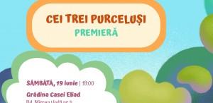 """Teatrul Ion Creangă prezintă """"Cei trei purceluși"""""""