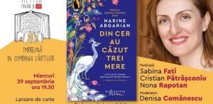 """Lansare de carte #online: """"Din cer au căzut trei mere"""" de Narine Abgarian"""