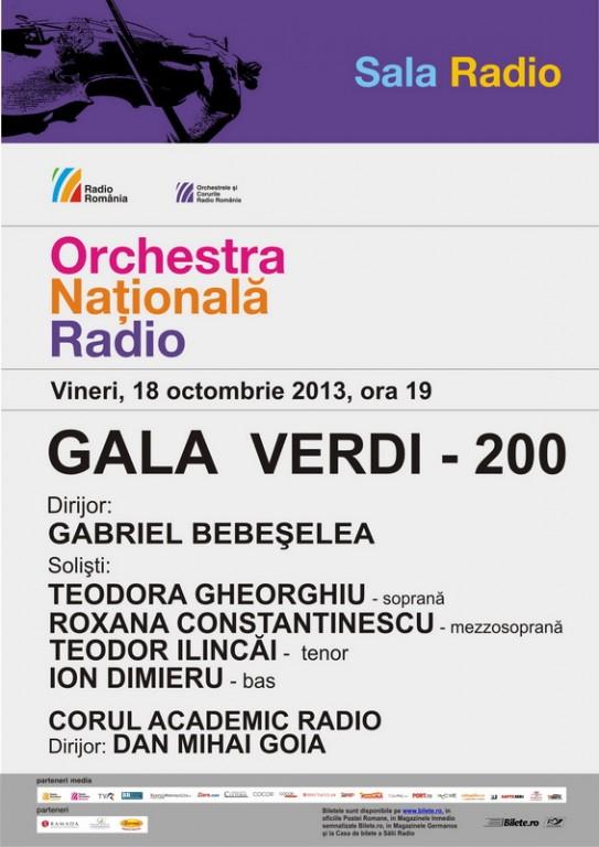 Gala Verdi - afis