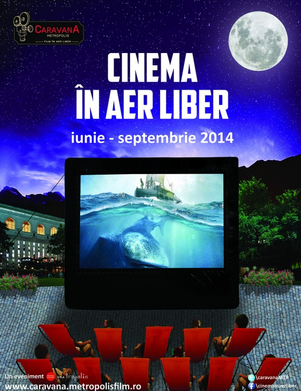 afis Caravana Metropolis - Cinema in aer liber 2014