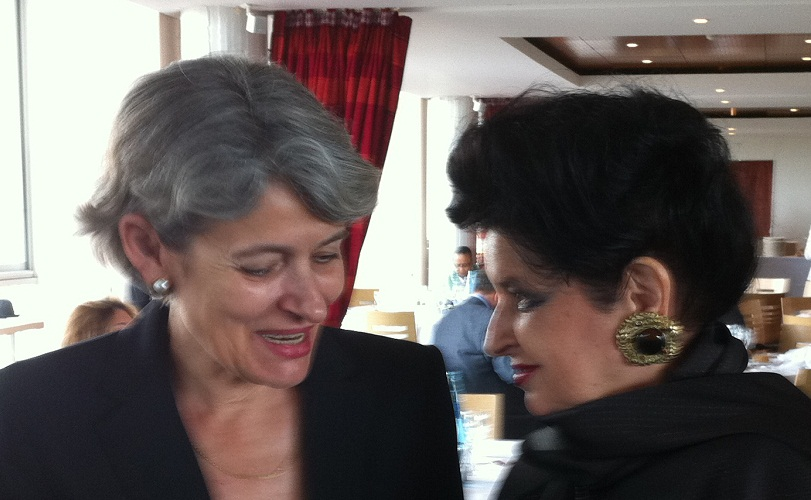 Mariana Nicolesco împreună cu Directorul General UNESCO, Irina Bokova, la Paris