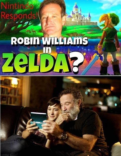 Robin Williams, un mare fan al francizei Legend of Zelda