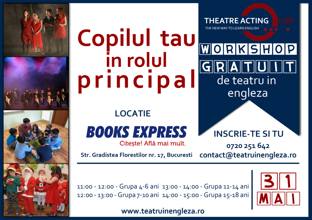 Atelier gratuit de teatru