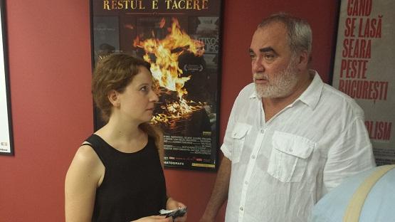Cornel Gheorghiţă şi producătoarea Adina Dulcu