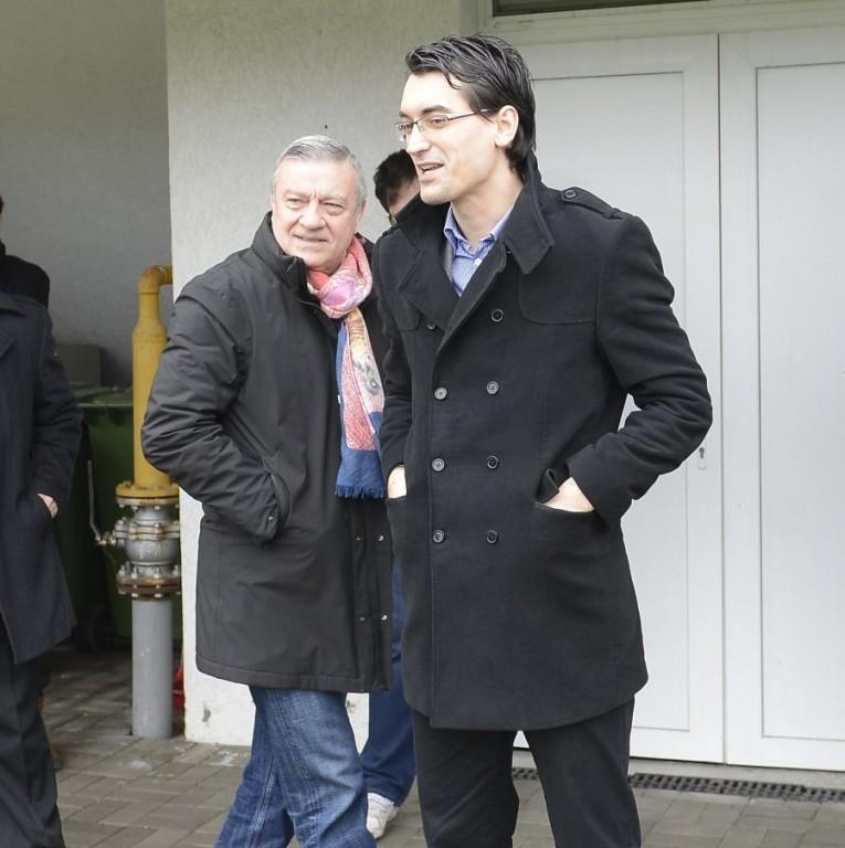 Fostul (Mircea Sandu) şi actualul (Răzvan Burleanu) preşedinte al FRF