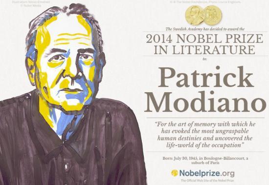Francezul Patrick Modiano, câştigătorul premiului Nobel pentru literatură în 2014