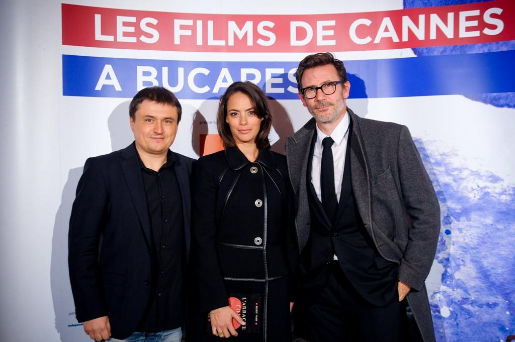 Berenice Bejo, Michel Hazanavicius şi Cristian Mungiu -_foto Doria Dragusin