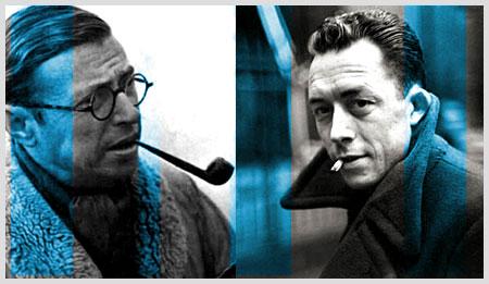 Jean-Paul Sartre şi Albert Camus