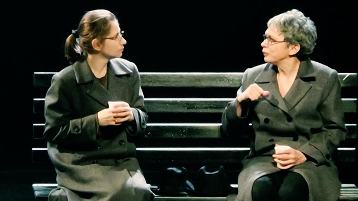 Cristian Casian si Oana Pellea în spectacolul N(aum), Teatrul Metropolis