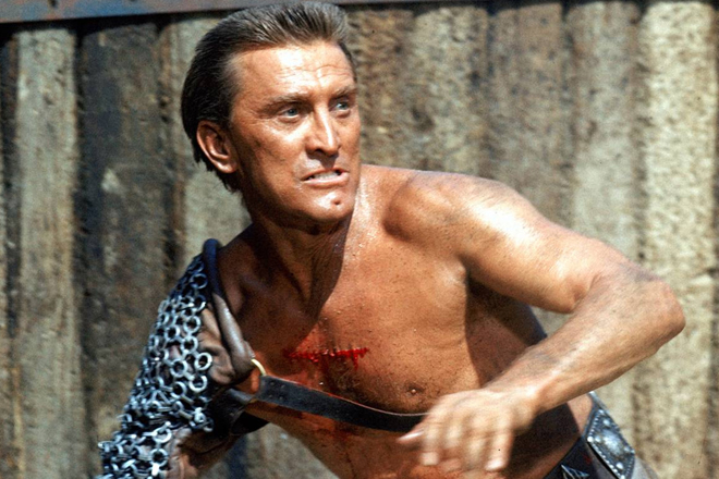 Kirk Douglas, în Spartacus