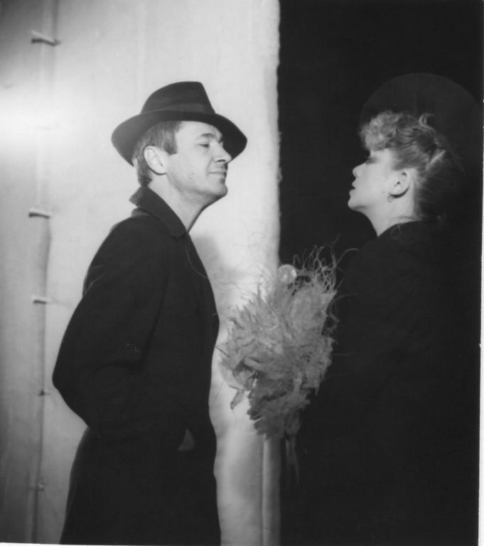 Valeria Seciu  şi Ştefan Iordache, in Maestrul şi Margareta, la Teatrul Mic