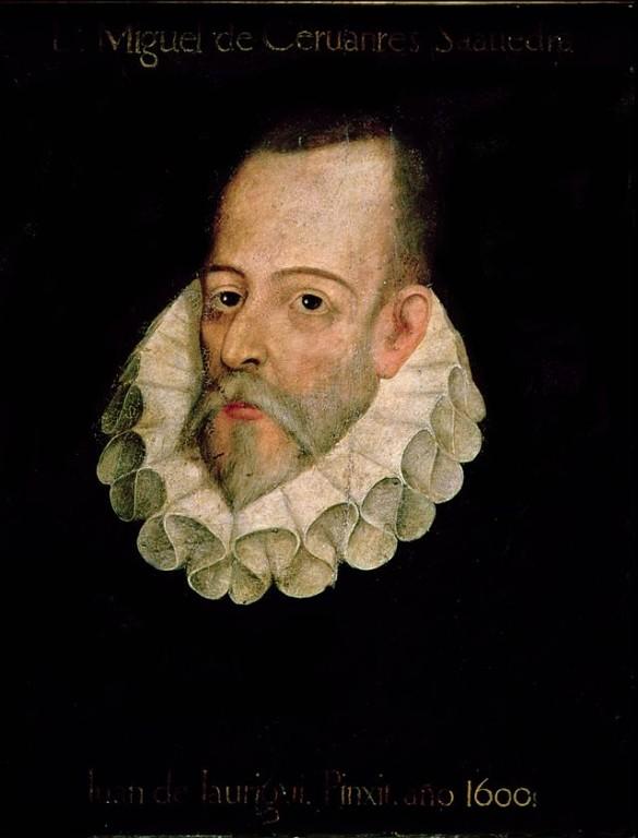 Miguel de Cervantes Saavedra (tablou atribuit lui Juan de Jáuregui și care se presupune că îl reprezintă pe Cervantes)