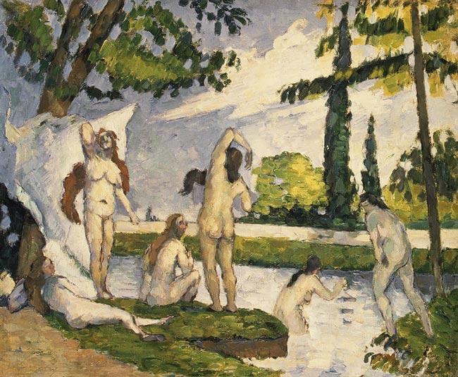 Femei scăldându-se, de Paul Cezanne