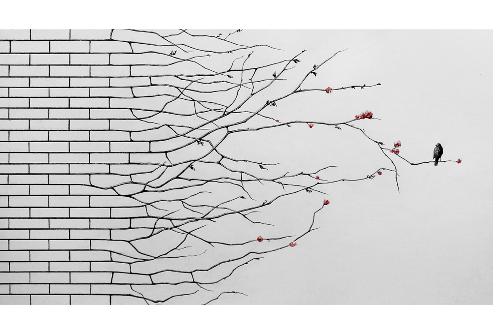 New_Order_Pencils_and_watercolor_on_paper_70-x-200cm_2013
