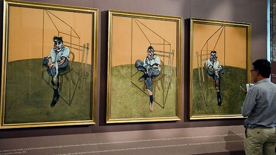 "tripticul ""Three Studies of Lucian Freud"", de Francis Bacon"