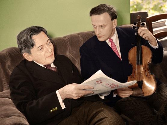 George Enescu si Yehudi Menuhin