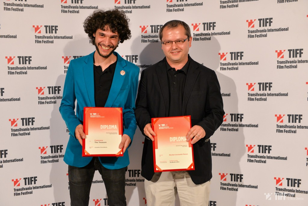 Nicolae Constantin Tănase și Corneliu Porumboiu TIFF 2015. Foto Nicu Cherciu