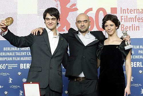 Geroge Pisterean, Florin Serban si Ada Condeescu la Festivalul de Film de la Berlin 2010
