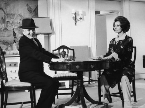 Sophia Loren & Charlie Chaplin