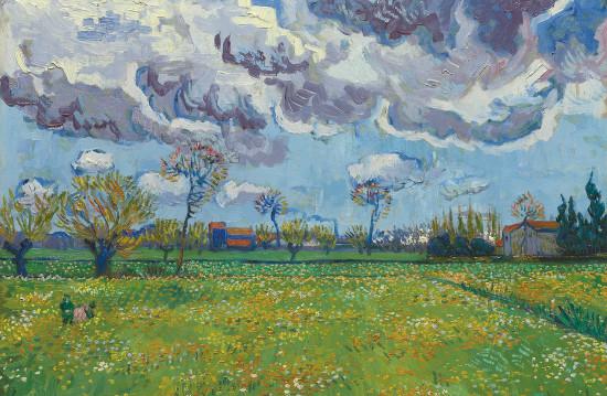 Van Gogh, Paysage sous un ciel mouvemente