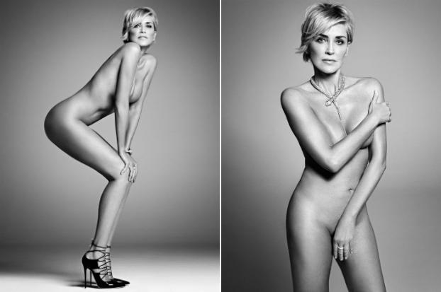 Anul trecut, Sharon Stone a pozat complet goală, la 57 de ani, pentru revista Harper's Bazaar.