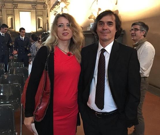 Ioana Nicolaie şi Mircea Cărtărescu, la Festivalului Scriitorilor de la Florenţa