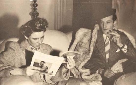 Neagu Djuvara cu soţia, la sfârşitul anilor '40