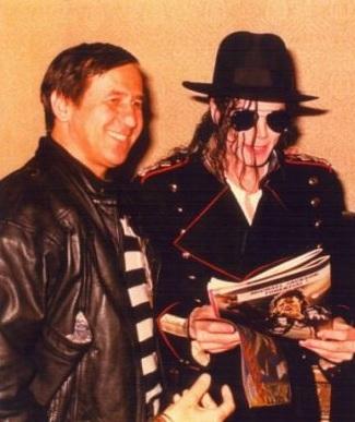 George Mihăiţă si Michael Jackson, la Bucureşti, în 1992