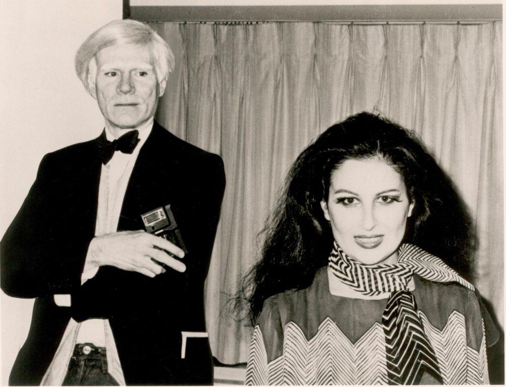 Mariana Nicolesco cu Andy Warhol la Metropolitan Opera din New York